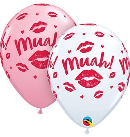 "11"" Kissy Lips Muah! Latex Balloon Uninflated"