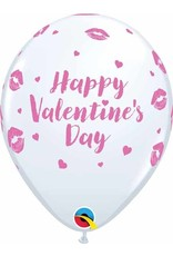"11"" Valentine's Day Kissy Lips Latex Balloon (Without Helium)"