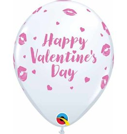 "11"" Valentine's Day Kissy Lips Latex Balloon Uninflated"