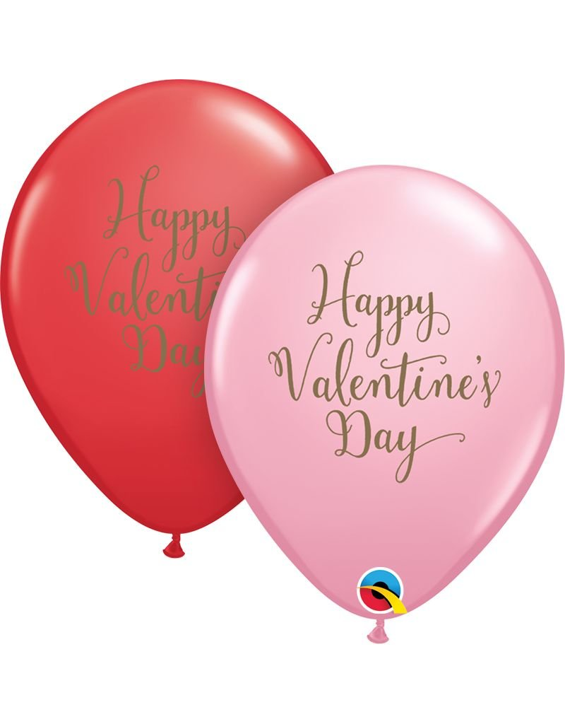 """11"""" Valentine's Day Script Latex Balloon (Without Helium)"""