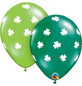 """11"""" Big Shamrocks Latex Balloon Uninflated"""