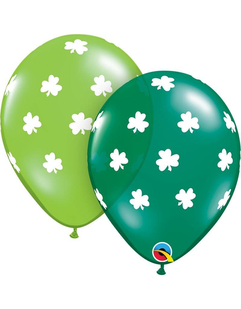 """11"""" Big Shamrocks Latex Balloon (Without Helium)"""
