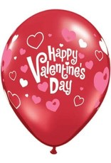 """11"""" Valentine's Day Pink Hearts Latex Balloon (Without Helium)"""