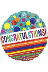 "Congratulations Sparkle 18"" Mylar Balloon"