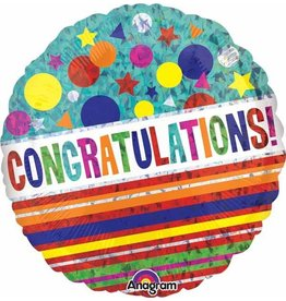 "Congratulations Sparkle 18"" Mylar Balloon"