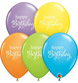 "11"" Simply Happy Birthday Latex Balloon Uninflated"