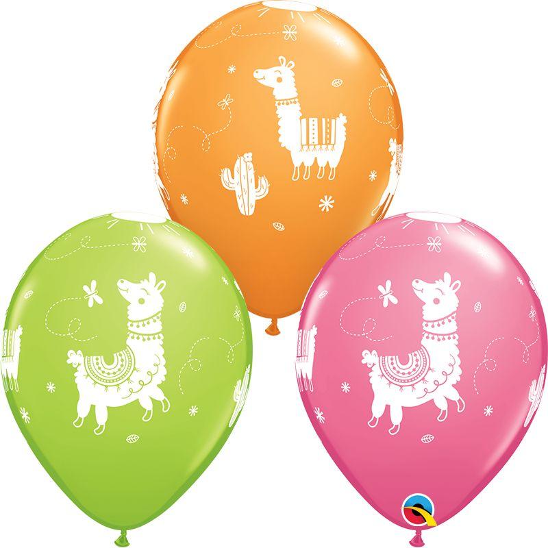 """11"""" Llama Latex Balloon Uninflated"""