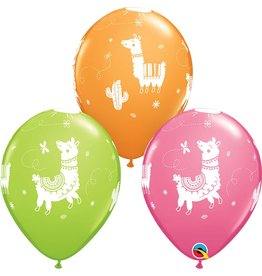 "11"" Llama Latex Balloon Uninflated"