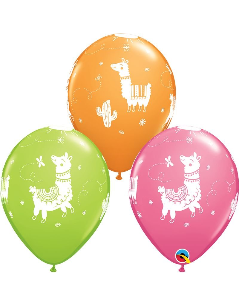 "11"" Llama Latex Balloon (Without Helium)"