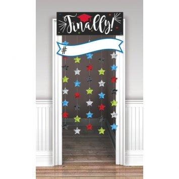 Finally Graduation Doorway Curtain