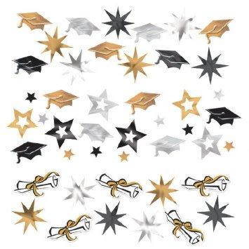 Grad Value Confetti Foil & Plastic Black/Silver/Gold