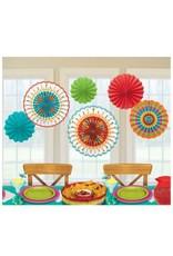 Fiesta Paper Fan Decorations (6)