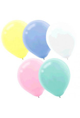 "Assorted Pastel 11"" Latex Balloons (72)"