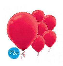 "Apple Red 11"" Latex Balloons (72)"