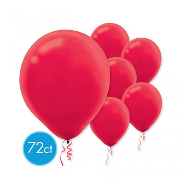 """Apple Red 11"""" Latex Balloons (72)"""
