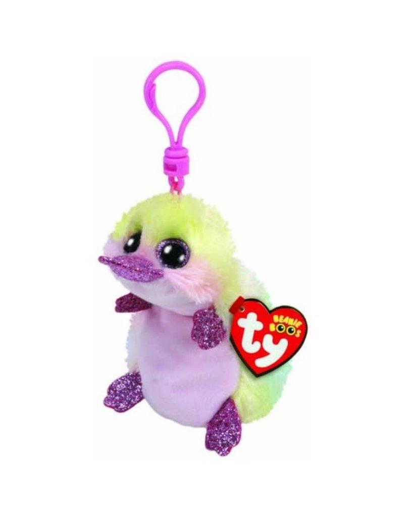 Beanie Boos Platypus Petunia Keychain