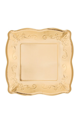 """Gold Embossed Square 7"""" Plate (8)"""