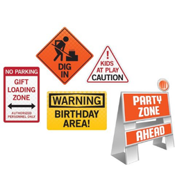 Big Dig Construction Easel & Sign Set