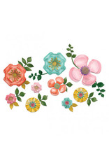 Bright Florals Paper Wall Decoration