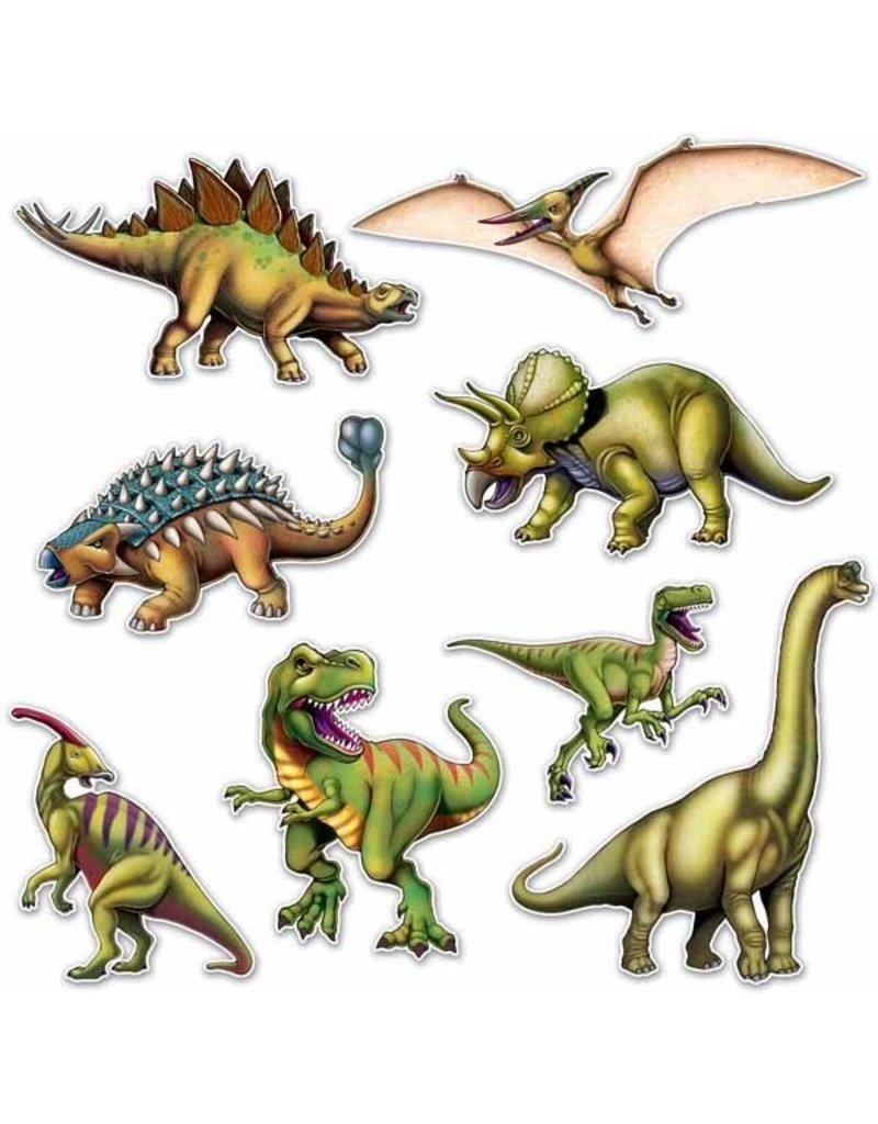 """Dinosaur Cutouts 10""""-19"""" (8)"""