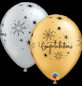 "11"" Congratulations Elegant Sparkle Balloon (Without Helium)"