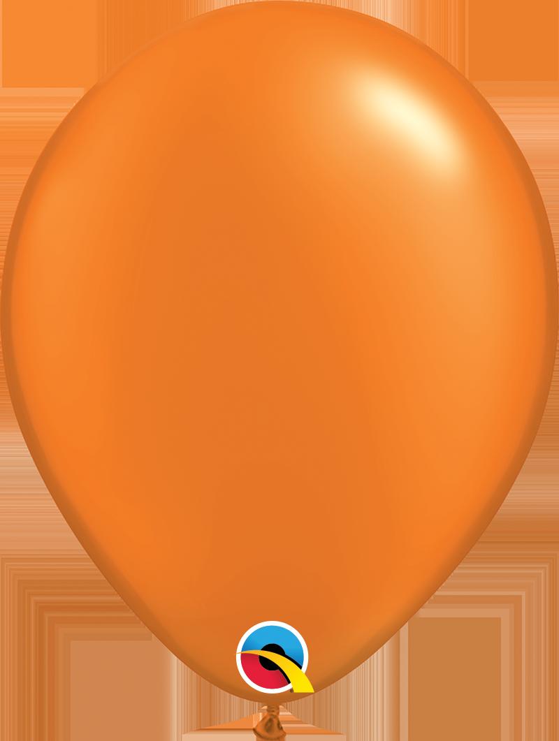 "11"" Pearl Mandarin Orange Qualatex Latex Balloon Uninflated"