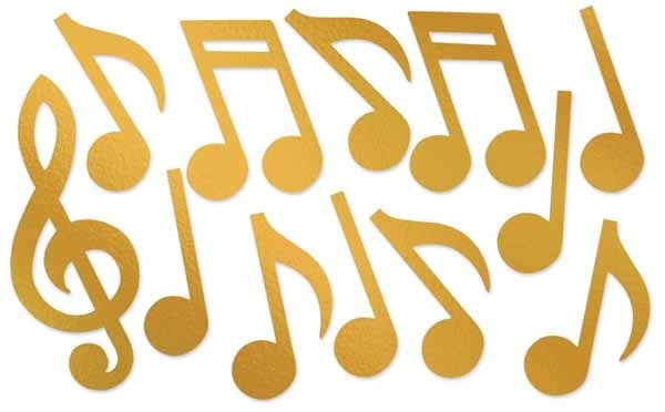 Gold Foil Musical Silhouettes (12)