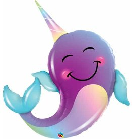 """Party Narwhal 40"""" Mylar Balloon"""