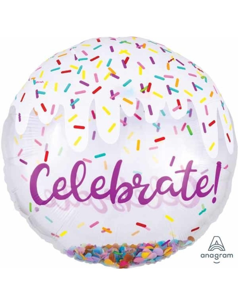 Celebrate Confetti Bubble Balloon