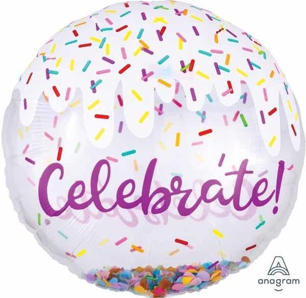 Celebrate Confetti Bubble Balloon