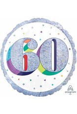 "Here's To Your 60th Birthday 18"" Mylar Balloon"
