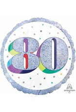 """Here's To Your 80th Birthday 18"""" Mylar Balloon"""