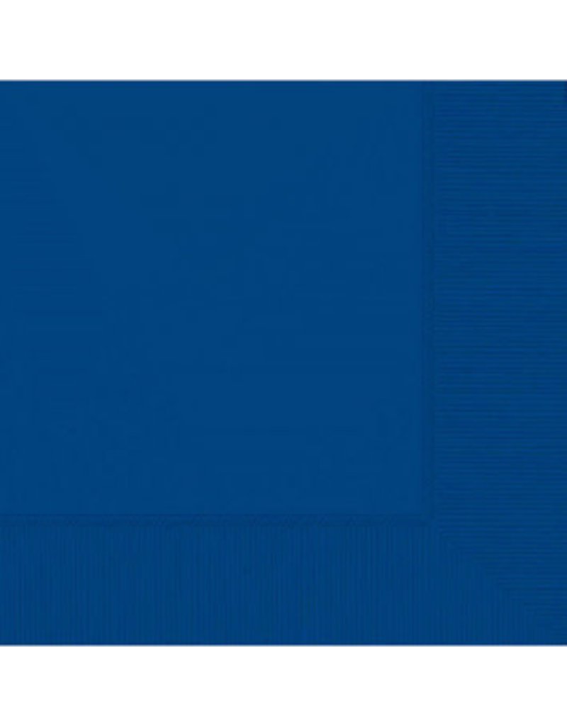 Bright Royal Blue Lunch Napkins 2-Ply (50)