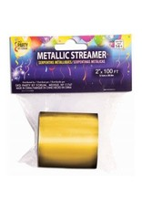 "Metallic Streamer Gold 2""X 100'"