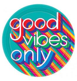 "Good Vibes 10 1/2"" Plates (8)"