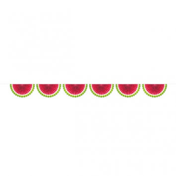 Watermelon Paper Fan Bunting Garland 6FT