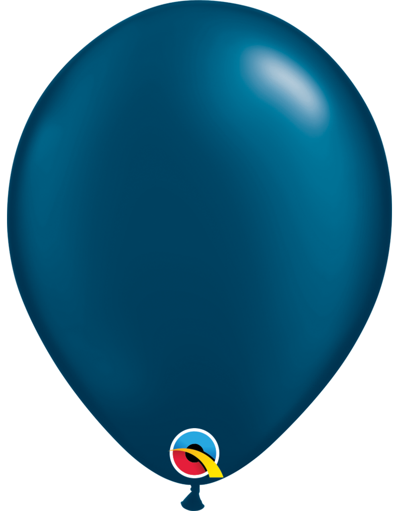 """11"""" Pearl Midnight Blue Latex Balloon (Without Helium)"""