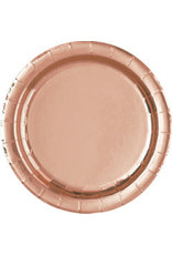 "Rose Gold 7"" Plates (8)"