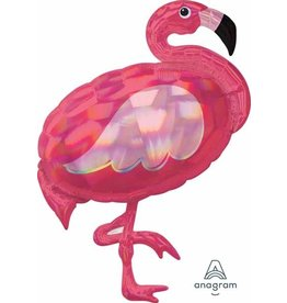 "Iridescent Flamingo 33"" Mylar Balloon"