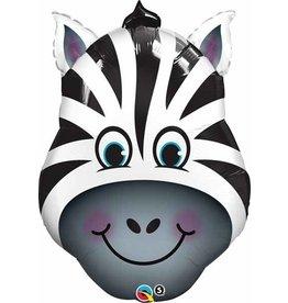"""Zany Zebra 32"""" Mylar Balloon"""