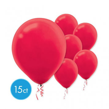Apple Red Solid Color Latex Balloons (15)