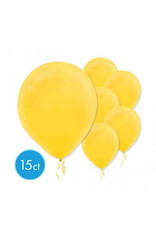 Yellow Sunshine Solid Color Latex Balloons (15)