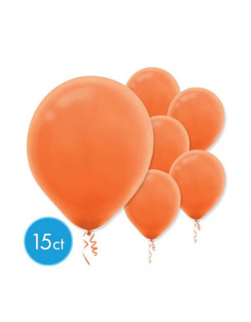 Orange Peel Solid Color Latex Balloons (15)