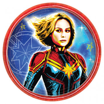 "Captain Marvel Round 7"" Plates (8)"