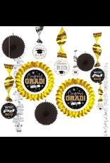 Graduation Decorating Kit Black, Gold, & Silver (13)
