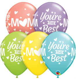 "11"" Mom you're the Best Balloon (Without Helium)"