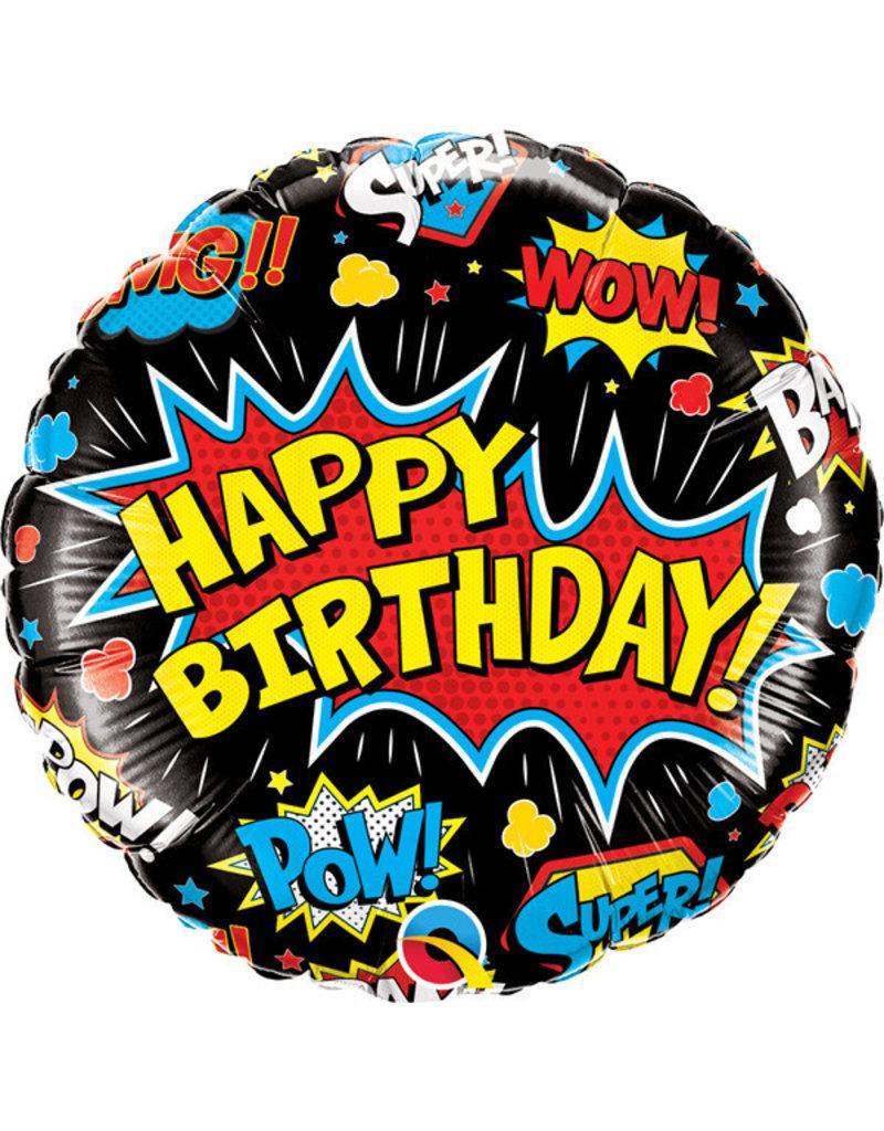 "Birthday Super Hero 18"" Mylar Balloon"