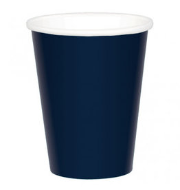 True Navy Paper 9 oz. Cups