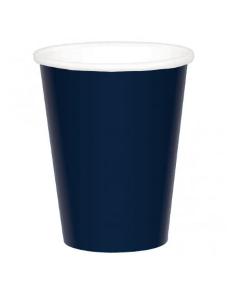 True Navy Paper 9 oz. Cups