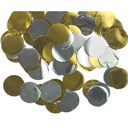 Gold and Silver Metallic Confetti Dots .8 OZ